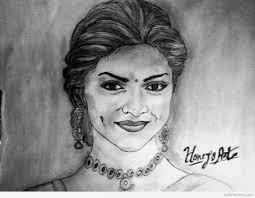 beautiful pencil sketch of deepika padukone desipainters com