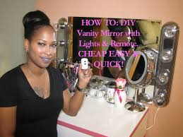 vanity light with plug how to diy vanity mirror with lights u0026 remote cheap easy u0026 quick