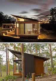16 examples of modern houses with a sloped roof rain water and