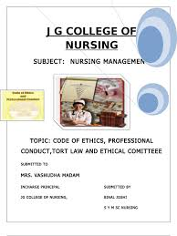 code of ethics types of law tort nursing