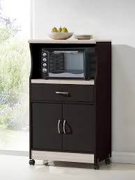 Kitchen Island Microwave Cart Microwave Cart Chocolate Gray Contemporary Kitchen Islands
