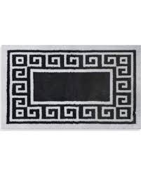 Black And White Bathroom Rug by Spring Sales On Adelaide 20 Inch X 33 Inch Bath Rug In White Greek