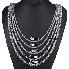 length mens necklace images Elfasio customized any length 3 4 5 6 8mm wide stainless steel jpg