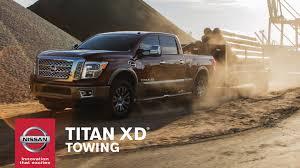 nissan titan towing capacity 2016 nissan titan xd towing youtube