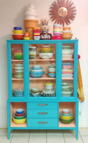 best images about chalk paint pinterest milk colorful hutch not sure love with the color thought all bowls husband would kill definitely fits quirky