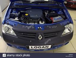 renault logan russian made renault logan cars put on sale in moscow shops stock