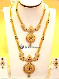 gold haram sets cz necklace and chain jewelorigins indian designer gold