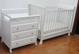 Cot Changing Table Bnib White New Zealand Pine Baby Change Table 4 Chest Of Drawers