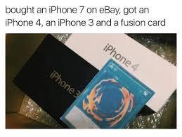 Iphone 4 Meme - bought an iphone 7 on ebay got an iphone 4 an iphone 3 and a