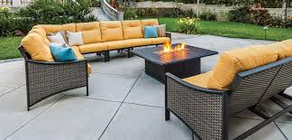 Patio Furniture Sets With Fire Pit by Furniture Fill Your Patio With Mesmerizing Tropitone Furniture