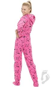 sleek hoodie one hooded footed pajamas one