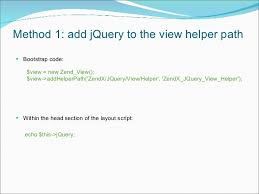 layout view helper introduction to zendx jquery