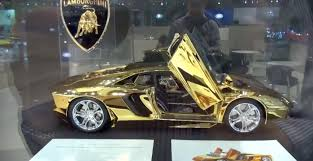 lamborghini car gold watch a 350 000 gold and platinum aventador scale model in dubai