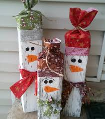 recycle wood snowman family an old fashioned christmas rustic