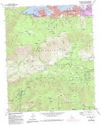 Bear Lake Utah Map by Big Bear Lake Topographic Map Ca Usgs Topo Quad 34116b8