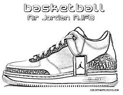 basketball shoe coloring pages download print free