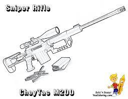 shotgun pistol sniper gun weapon coloring pages kids aim