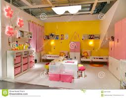 children room furniture in ikea editorial stock photo image child children furniture ikea interior lithuania opened room