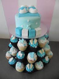cupcakes for baby shower boy baby shower cupcake tower