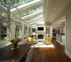 modern hunting lodge sunroom transitional with tongue and groove