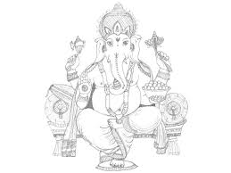 ganesh sketch desipainters com clip art library