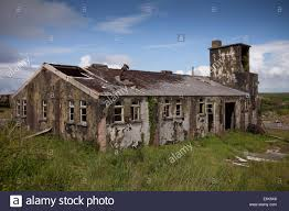 abandoned and derelict buildings dating from world war ii near st
