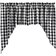 Black Window Valance Buffalo Black Check Lined Swag Curtains U2013 Primitive Star Quilt Shop