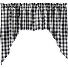 Primitive Swag Curtains Buffalo Black Check Lined Swag Curtains Primitive Quilt Shop