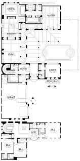 Inexpensive Floor Plans by Home Plans House Plan Courtyard Home Plan Santa Fe Style Home