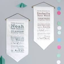turquoise birthstone meaning personalised baby story fabric hanging by modo creative