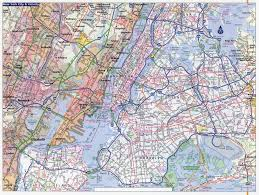 New York Maps by Large Detailed Road Map Of New York City New York City Large