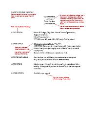 Resume Activities Section Gerobak Bejat Basic Resume Examples