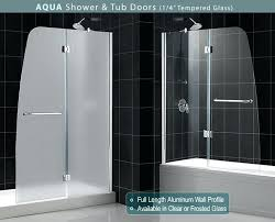 Trackless Bathtub Doors Surprising Folding Glass Shower Doors Images Best Inspiration
