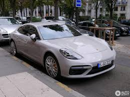 porsche panamera 2017 crayon colored 2017 porsche panamera turbo spotted on paris streets