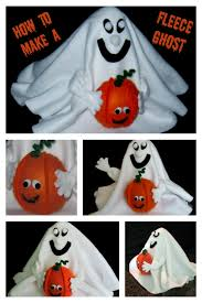 how to make a halloween ghost with fleece tutorial crafters