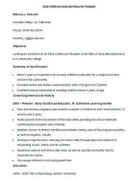 Early Childhood Education Resume Template Resume Text Format Resume Format For Freshers Mechanical