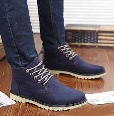 lace up moto boots men winter shoes lace up ankle boots warm cotton inside street
