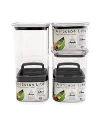 airscape kitchen canister airscape lite airtight container clear 64oz espresso planet canada