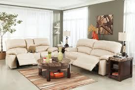 Ashley Furniture Microfiber Loveseat Sheldon Power Reclining Loveseat Cream Big U0027s Furniture Store Las