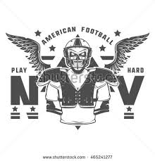 set american football emblems logo stock vector 393294268