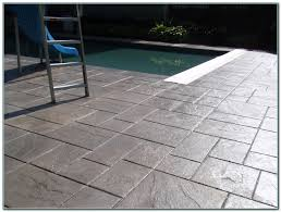 grey stamped concrete pool deck decks home decorating ideas