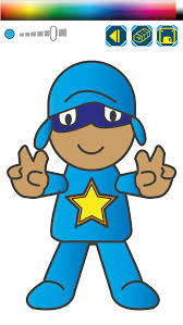 finger painting pocoyo coloring book game apps 148apps