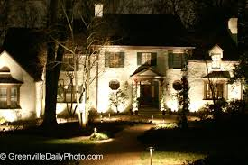 house of lights cleveland a house lit by flood lights greenville daily photo
