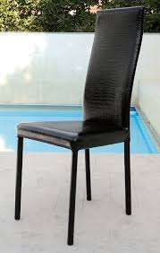 sedie pelle sedia onda unico italia sedia in ecopelle cuoio o pelle