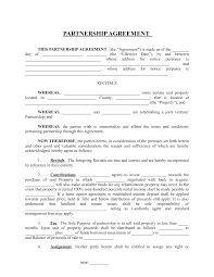Promissory Note Real Estate Template by Partnership Agreement 0 Real Estate Investing Pinterest Real