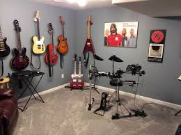 music room decorating ideas with grey wall paint color music room