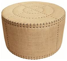 Rustic Round Coffee Table Adalene French Country Burlap Rustic Round Coffee Table Ottoman
