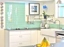 lovely blue green glass tile kitchen backsplash khetkrong