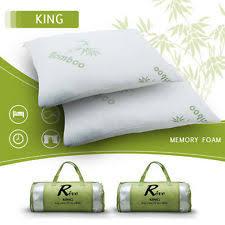 Bamboo Pillow Hotel Comfort Memory Foam Bed Pillows Ebay