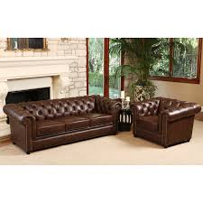Abbyson Living Leather Sofa Incredible Chesterfield Tufted Leather Sofa Chesterfield Leather
